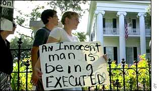 A protest in Austin, Texas, against the death penalty