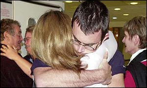 Emotional reunions at Heathrow airport