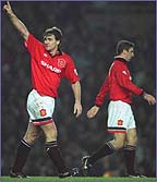 Hughes and Eric Cantona were a Manchester United double act