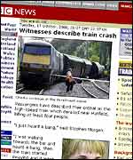 BBC News Online's coverage of the crash
