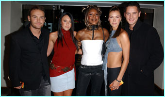 Liberty X arrive at RUSI- Royal United Services Institute for Defence Studies, for the after show party