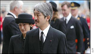 Japanese Prince Akishino and Princess Kiko