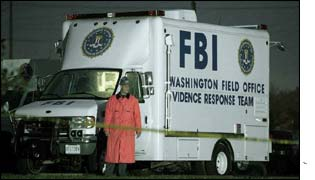 FBI at crime scene