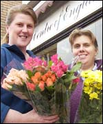 Tracy Gardiner, left and Sue Power at Centre of England Florist