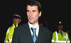 Roy Keane leaves the hearing after learning his fate