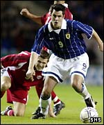 Scotland striker Steven Thompson