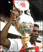 Former Arsenal midfielder Paul Davis with the English title