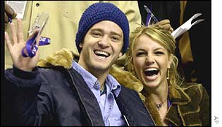 Justin Timberlake and Britney Spears in February