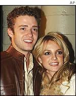 Justin Timberlake and Britney Spears pictured in November