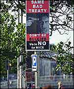 Poster urging Ireland to vote against the Nice Treaty