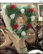 Iraqis made a big show of affection for their leader