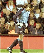 Seaman is dejected after his latest error