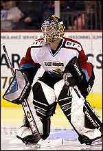 Belfast Giants goalie Ryan Bach