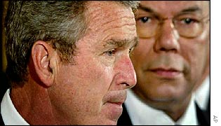 President George Bush and Secretary of State Colin Powell