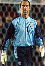 David Seaman comes to terms with his early mistake against Macedonia