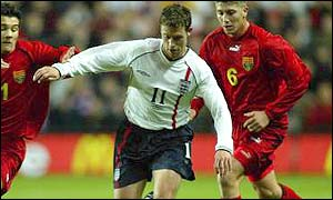 Wayne Bridge in action against Macedonia
