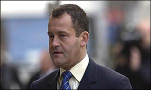 Paul Burrell arrives at court on Thursday