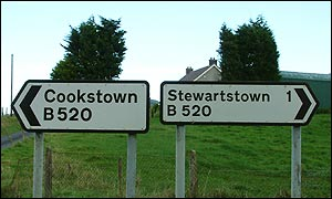 Cookstown and Stewartstown signs