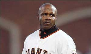 Barry Bonds, of the San Francisco Giants