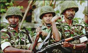 Bangladeshi army soldiers