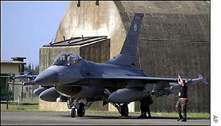 US F-16 fighter at Incirlik air base, Turkey