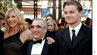 Cameron Diaz, Martin Scorsese and Leonardo DiCaprio in Cannes