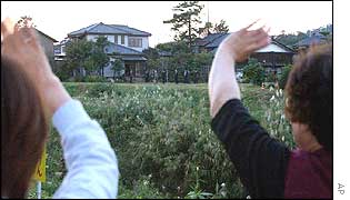 Neighbours of Kaoru Hasuike wave as he visits home 24 years after being kidnapped by North Korea