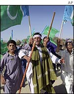 Jamaat-i-Islami in anti-American protests in Quetta, October 2001