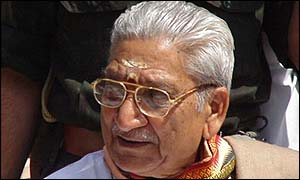 Ashok Singhal, international working president of the Vishwa Hindu Parishad (World Hindu Council)