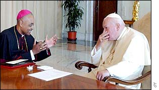 Bishop Wilton Gregory meets the Pope