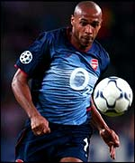 Arsenal's French international Thierry Henry