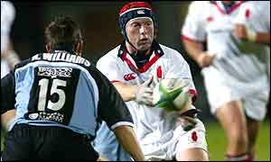 Ulster and Ireland A scrum-half Neil Doak