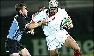 Former Springbok Warren Brosnihan was prominent in Ulster's victory over Cardiff