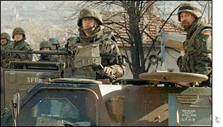 Nato peacekeepers in Bosnia