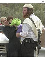 Jewish settlers at Havat Gilad