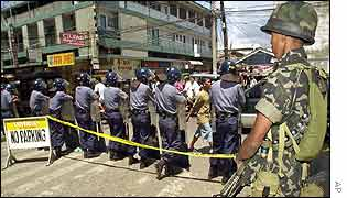 Security forces in Zamboanga