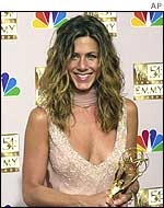 Jennifer Aniston after getting Emmy award