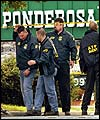 Investigators at the scene of the Ponderosa car park shooting