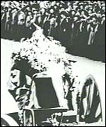 Edith Cavell's coffin