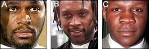 Audley Harrison, Nigel Benn & Chris Eubank. The answer's Harrison