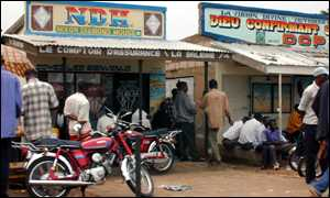 Diamond-dealing shops in Mbuji-Mayi