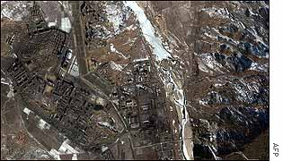 Aerial view of Yongbyon nuclear site