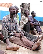 Rwandan soldiers captured by DRC government forces
