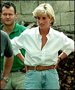 Paul Burrell and Diana