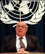 Speaking at the United Nations in 1998
