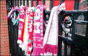 Scarves of remembrance for Hillsborough victims