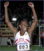 Jackie Joyner Kersee sometimes wore a mask to compete