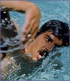 Mark Spitz scooped an amazing nine Olympic golds