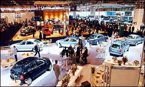 General view of the British International Motor Show