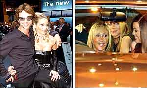 Jay Kay of Jamiroquai with model Lisa Butcher (left picture), Atomic Kitten (right picture)